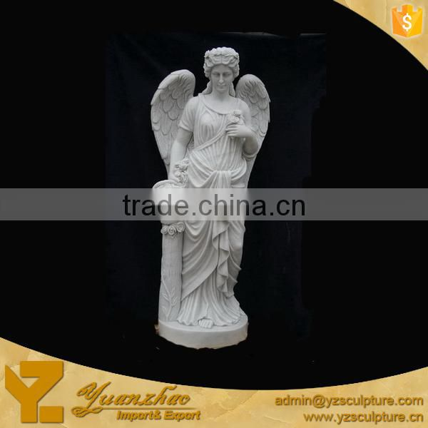 White Marble Carving Angel for garden decoration