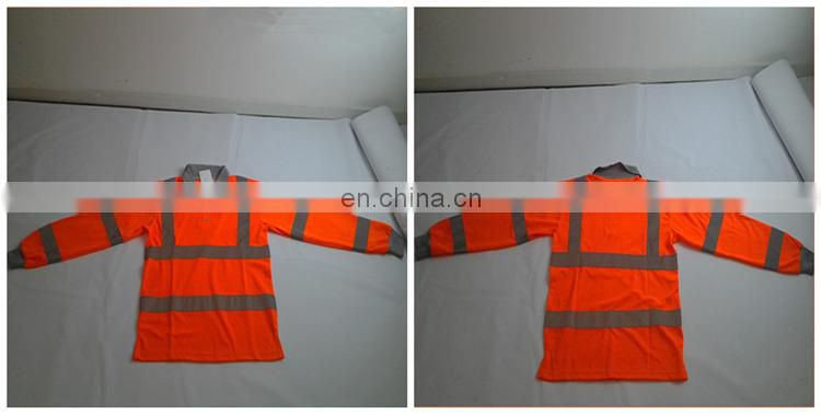 2017 china Reflective Security Hi Vis Safety long sleeve Shirt