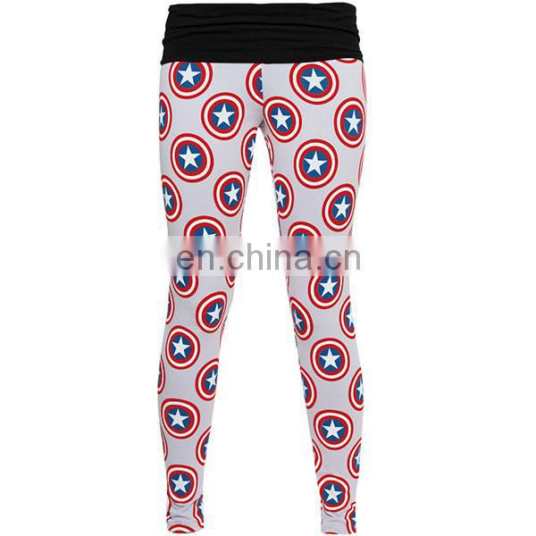 Custom printed gym clothing yoga pants ladies sexi fitness wear