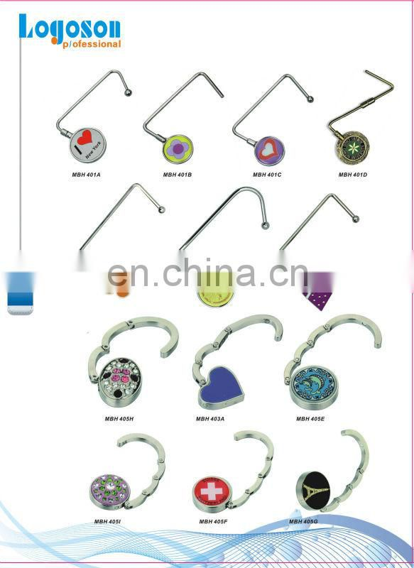 LJ-05 Customize heart shape metal foldable bag hanger hook