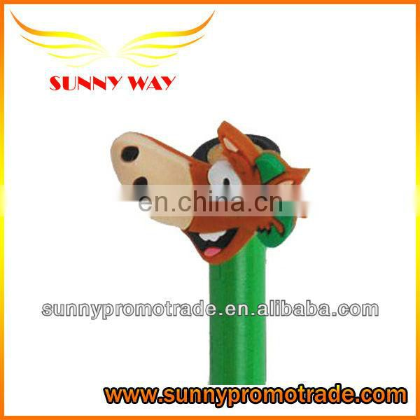 promotional cartoon shape soft pvc pen caps