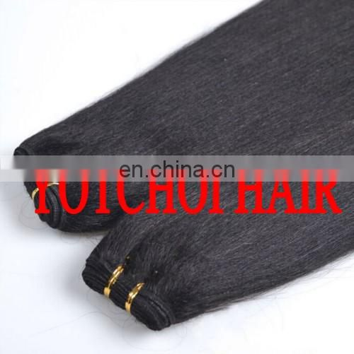 Qingdao Yotchoi Top Quality 10-30 Inch Yaki Straight Express Weave Wavy Hair
