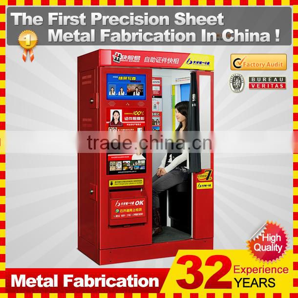 customized made metal digital photo booth enclosure for sale