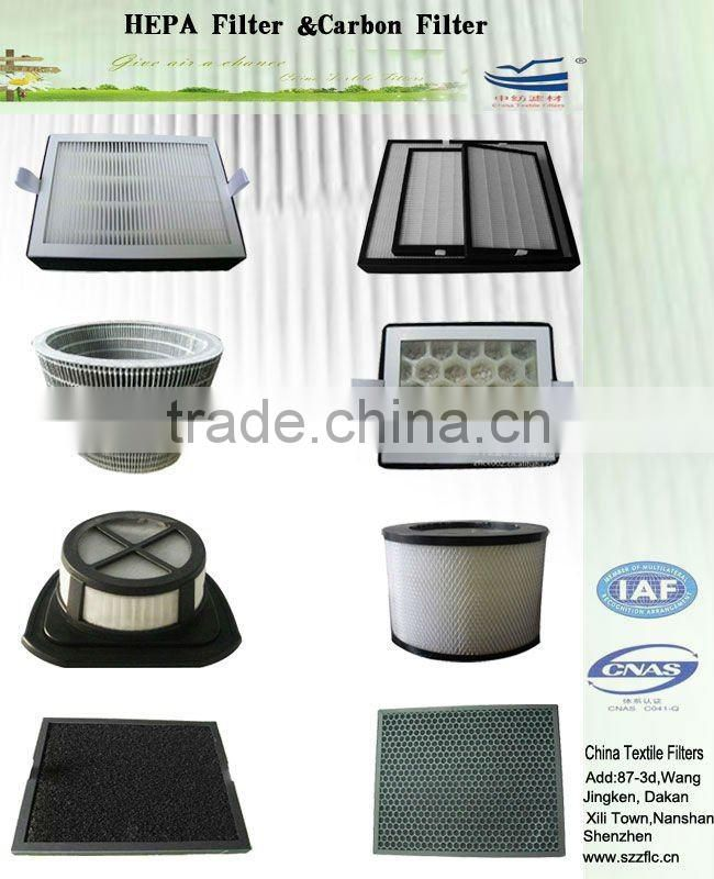 Activated carbon HEPA air filter for car