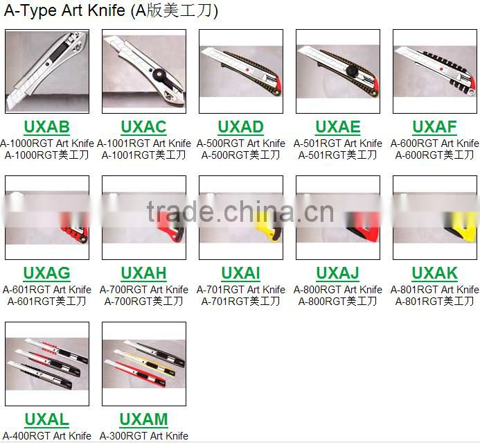 utility knife retractable blade box cutter art knives snap off lock razor blade aluminum alloy shell