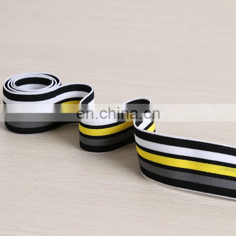 fashionable striped plain woven elastic ribbon for underwear