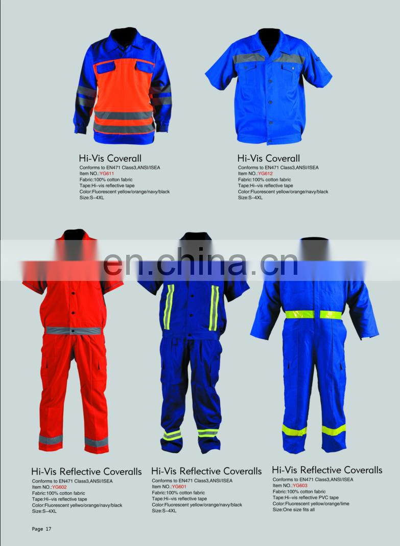 a set of Hi Vis reflective coveralls work wear