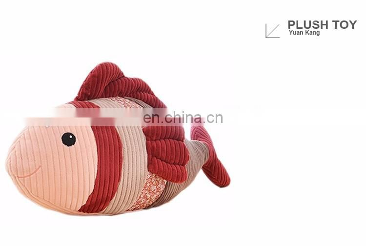 OEM stuffed sea animal plush toy fish for kids with cheap price