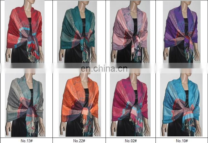 fashion shawl with colorized cloud pattern fashion scarf clips