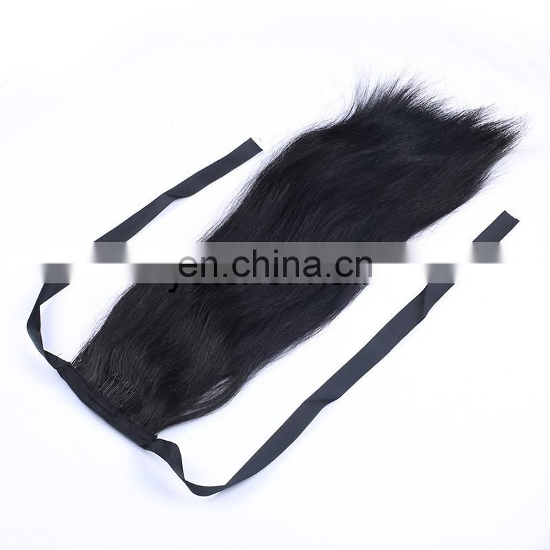 New Black Available Womens Clip in Ponytail Long Hair Piece Pony Tail Hair Extension