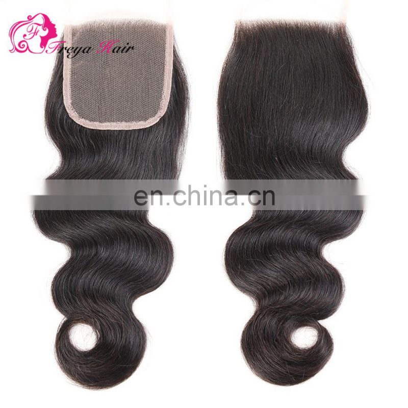 Hot selling top brazilian hair burgundy lace closure