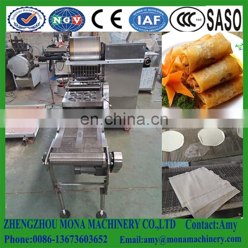 Automatic Round/Rectangle Spring wrapping Maker|Industrial Spring Roll Skin Making Equipment|Spring Roll Sheet forming Machine