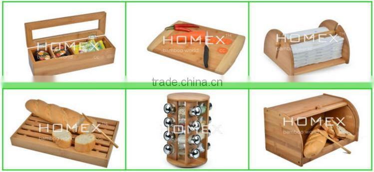 Bamboo condiment dispenser spice box Homex BSCI/Factory