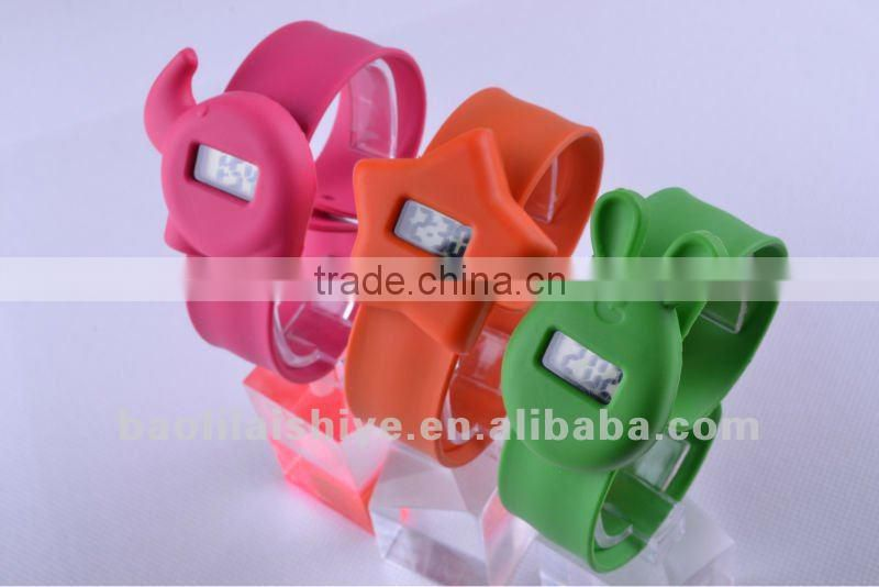 kids silicone slap digital watches