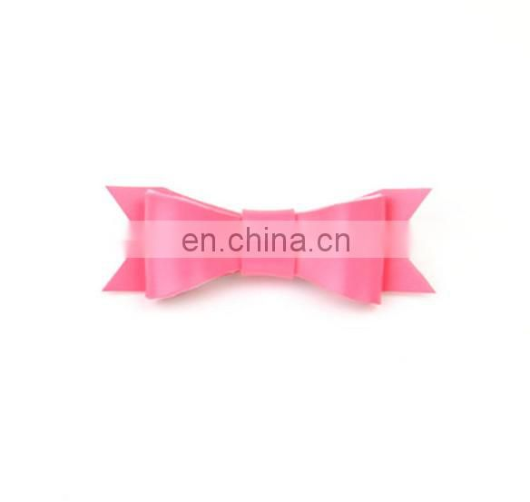 Baby Bows Hair Clip Leather Ribbon Hair Clippie Alligator Hair Clip For Baby