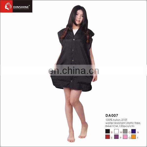 Black polyester smock hair salon work wears uniform for barber salons