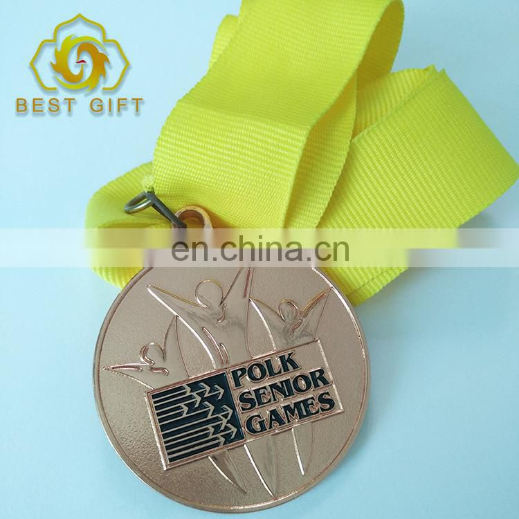 Hot Sale Running Cheap Custom Award Rose Gold Color Sports Medal