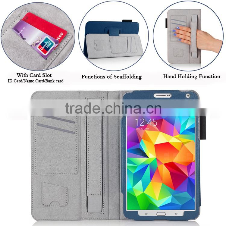 Multinational book style flip PU sticker tablet for ipad leather case for Samsung Galaxy Tab A 9.7' hand strap leather case