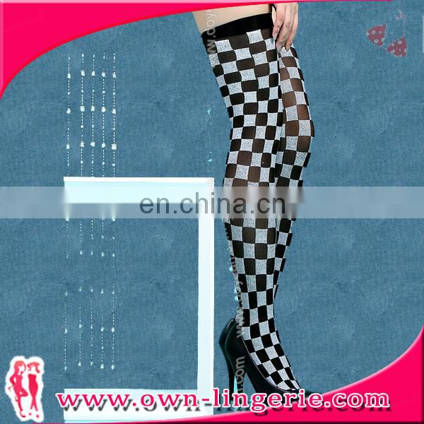 Cheap Sexy Lady Long Argyle Stocking