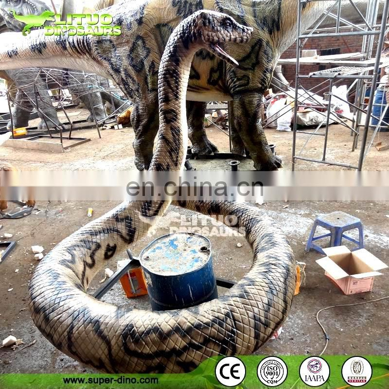 Amusement Park Animated Silicone Rubber Moving Snake