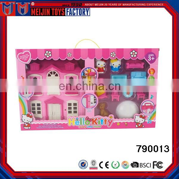 2017 Best gift popular plastic mini villa house toy for children playing