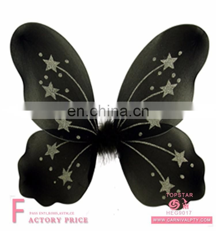 Children christmas decoration 2017 Performance clothing butterfly wings with magic wand and dress set Bumble Bee Wings Costume