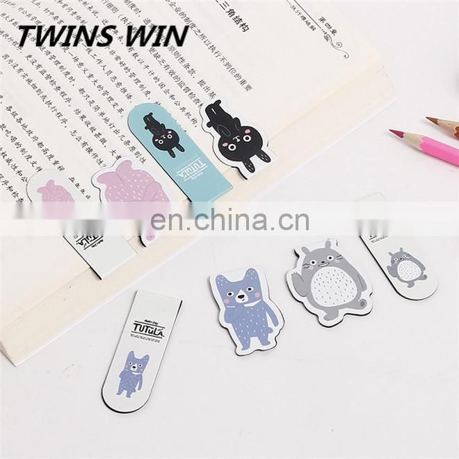 best price cute stationery school supplies wholesale from china , custom-made magnetic metal animal design bookmark