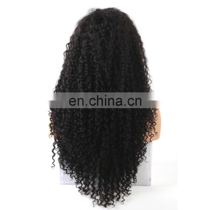 Freya Hair deep curl brazilian hair in china pre plucked lace wig