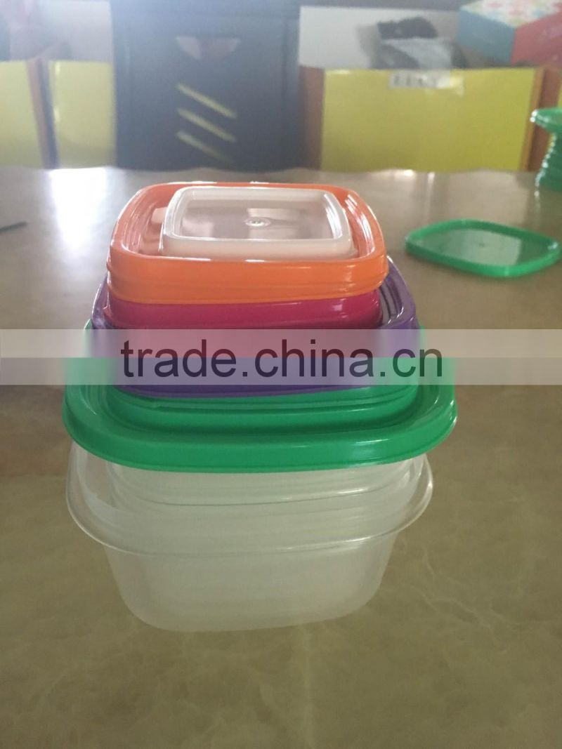 10pcs plastic storage square food small portion control container box set