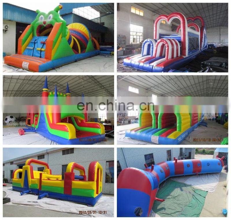 TOP popular giant inflatable tunnel obstacle course outdoor obstacle course equipment
