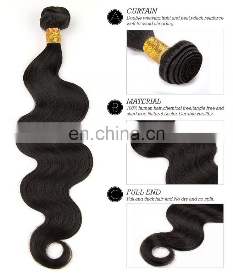 "10""-32""new arrival hair weft with closure hair Brazilian body wave www.china.cn"
