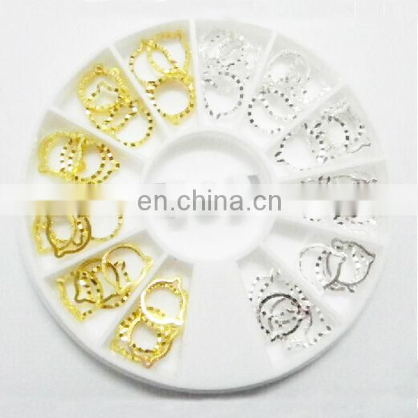 Wholesale popular nail product alloy nail art
