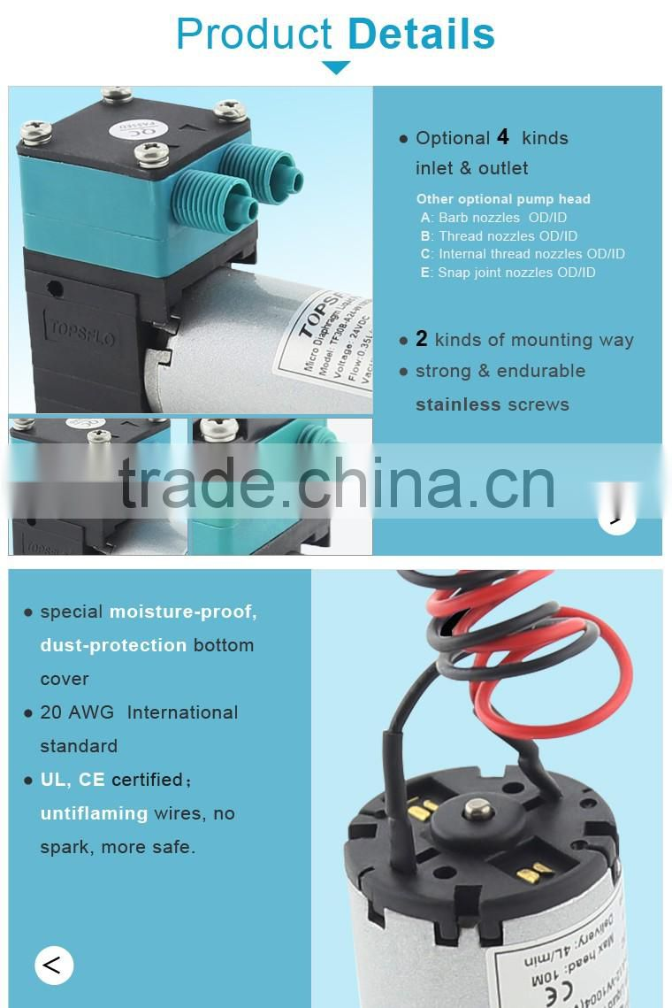 12V 24V DC Micro Diaphragm chemical concentration adjustable pump for foam cleaning system