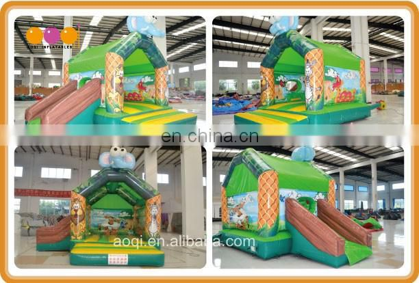 children indoor playground inflatable elephant combo toy backyard mini inflatable jumping bouncer combo
