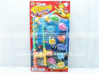 Kids plastic toy electronic fishing game