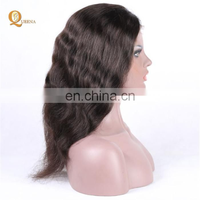Wholesale Natural Black Lace Wig Body Wave 100 Human Hair Brazilian Hair Full Lace Wig With Baby Hair