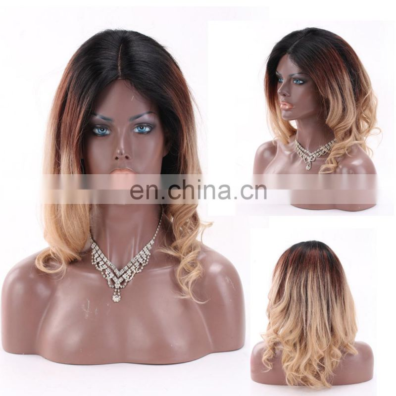 2017 New Fashion Omber Color 3 tone 1BT4T27 100% Human Hair Virgin Brazilian Lace front Wig