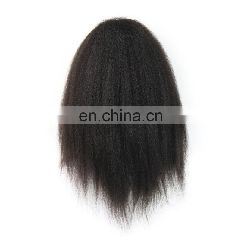 FACTORY PRICE 100% Indian human virgin 9A GRADE lace front wig in kinky straight cuticle aligned hair
