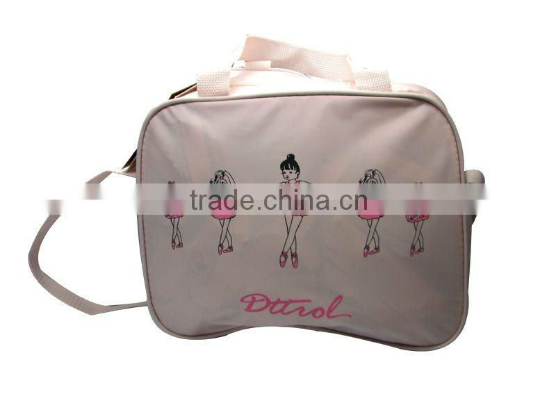 D006180 Dance light pink single shoulder long strip bag women