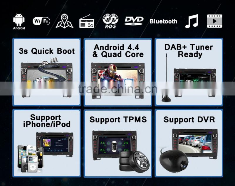 Ownice android 4.4 quad core car GPS system for Great Wall Hover H3 H5 with reversing camera +16G rom