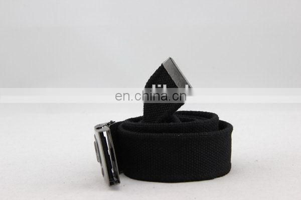 Canvas Belt With Metal Buckle Snap On Belt Buckle