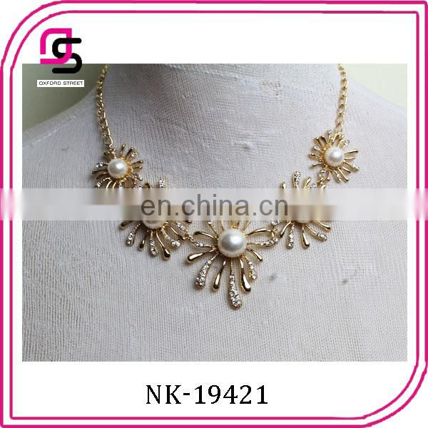 fashion handmade designer gold chocker chain necklace jewelry