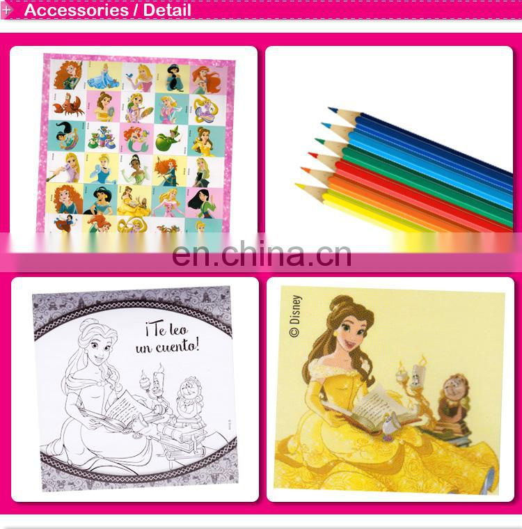 creative spiral coloring book with pencil CMYK printing for children
