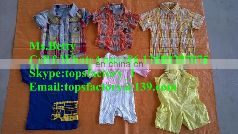Cheap second hand clothes used children clothing