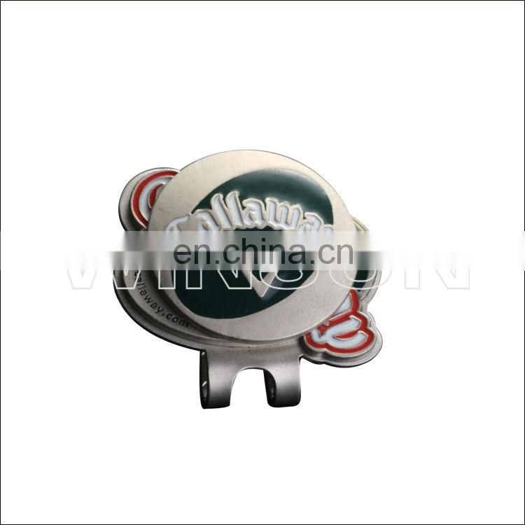 custom car logo hat clip marker for golf