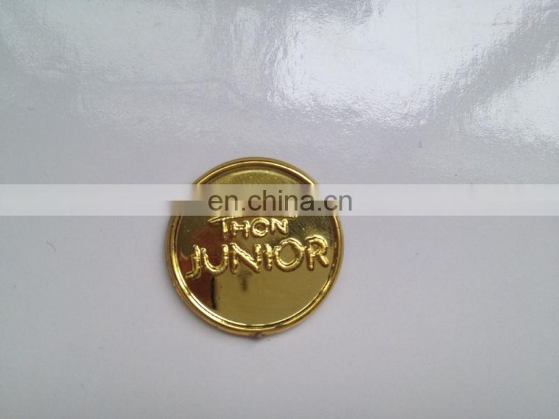 custom made cheap plastic gold coin challenge coin