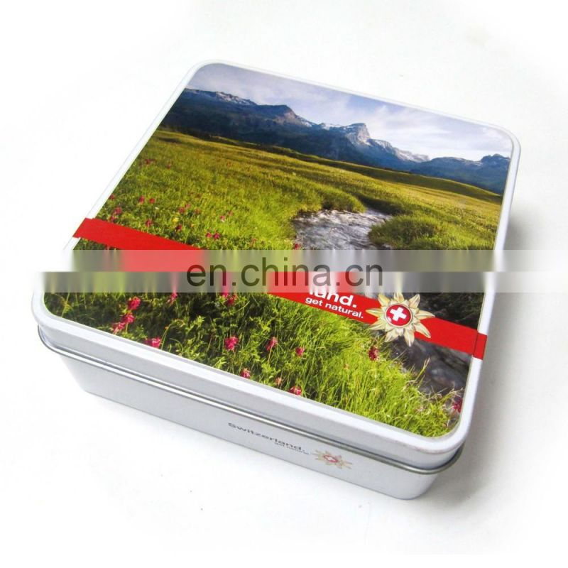 Middle Square Candy Tin Box