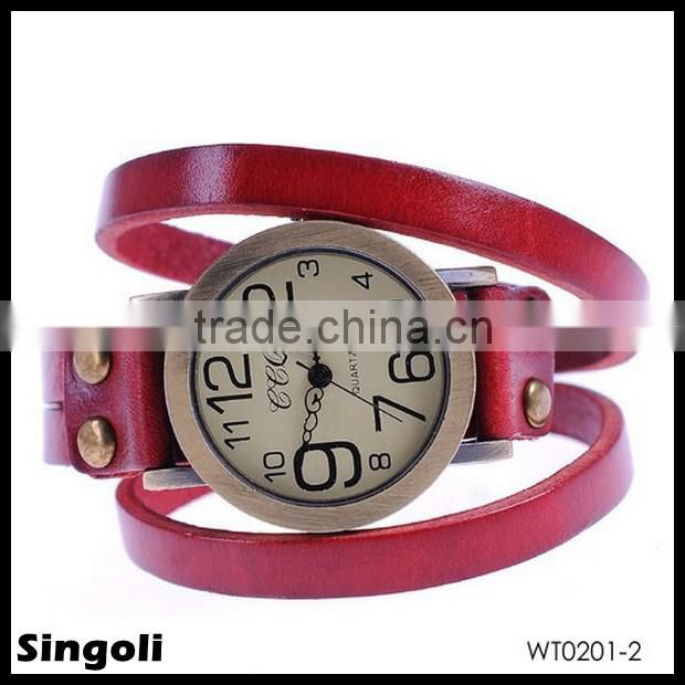 Fashion Classic Elegant Leather Watch Straps Wholesale Roma Number Dial Quartz Woman Watch