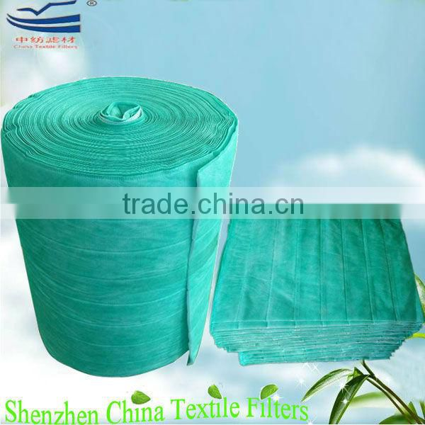 F8 yellow color nonwoven fabric HVAC pocket filter media/ bag filter media roll