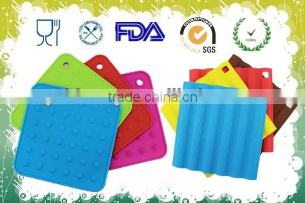silicone kitchen pads coaster cup mat silicone tablemat